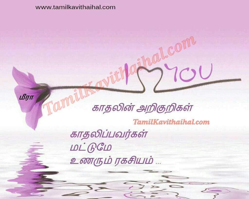 Cute Love Quotes For Her In Tamil : ragasiyam love birds i love you meera images cute tamil lines quotes ...