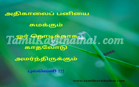 early morning dwe nature kavithai in tamil iyarkai panithuli