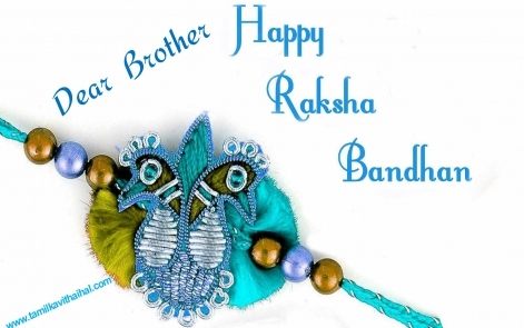 brother sister raksha bandhal tamil kavithai wishes download