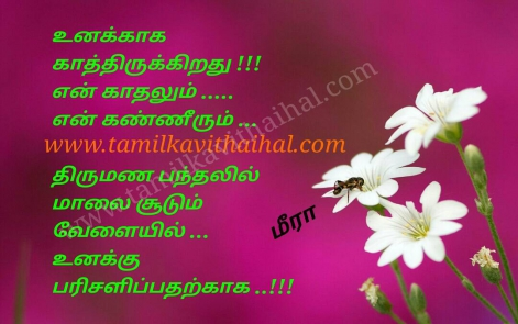 beautiful husbend and wife love marriage kavithai thirumanam pandhal malai soodum velai gift meera poem hd wallpaper