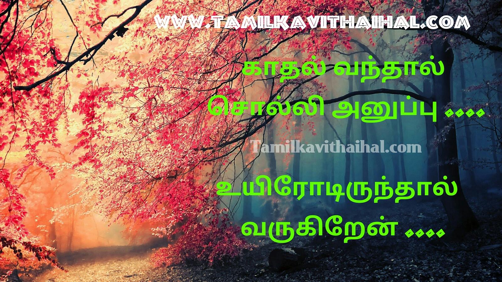 kadhal vandhal solli anuppu padal varigal love sad songs