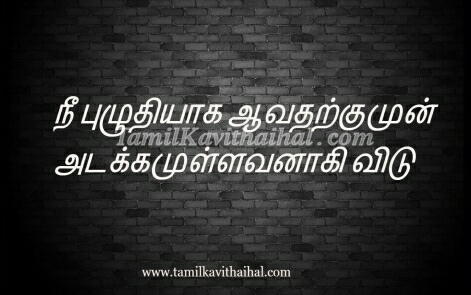 beautiful tamil quotes online about life adakkam messages images download