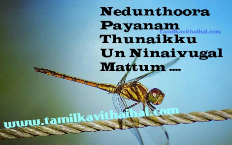nedunthoora payanam thunaiku un niniavugal mattum thanglish kavithai love feel kavithai awesome quotes