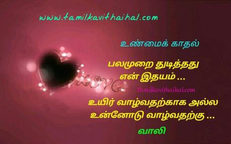 amazing love kavithai vaali feel uyir pala murai thdithathu en idhayam unnodu valvatharku heart touching poem facebook status