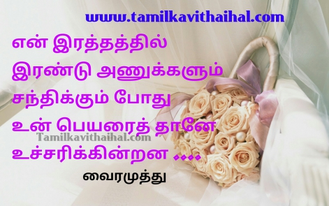 vairamuthu kadhal kavithaigal for lovers feel affection irandu anukkal un peyar love proposal hd image