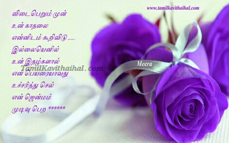 Cute Tamil Rose Love Kadhal Kavitha Tamil Boy Girl