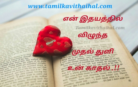 beautiful and romantic love words kavithai in tamil en idhayam viluntha muthalthuli un kadhal best meera poem dp status image download