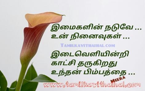 beautiful love kavithai meera poem imaikal naduvey ninaivukal pimbam kaatchi best memories kadhal images