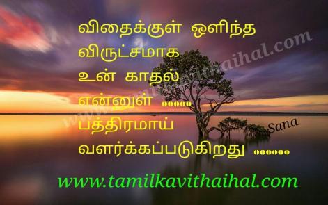 beautiful love kavithai tamil vidhai maram hidden kadhal sana one side poem facebook image download