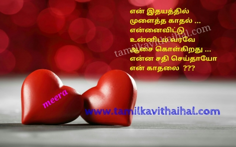 cute one side love feel tamil oru thalai kadhal meera kavithai aasai sathi idhayam hd wallpaper