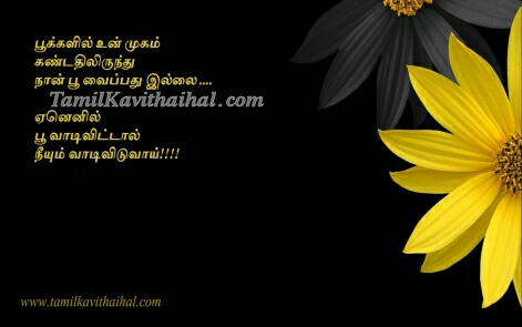 flower poo vasam yelllow love cute tamil
