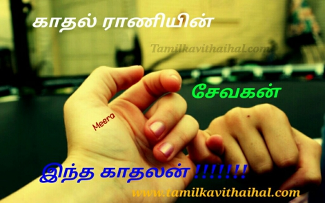 kadhal rani sevakan indha kadhalan best lines for express love meera kavithai in tamil facebook images download