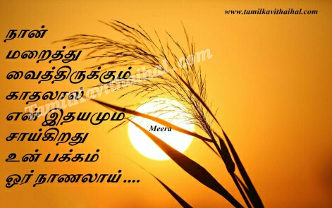 maraitha kahdal en idhayam saikiradhu nanal kavithai in tamil heart affection meera poems images