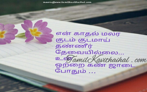 tamil kavithai about love kadhal thanneer water un kan vili vizhi meera whatsapp dp status images download