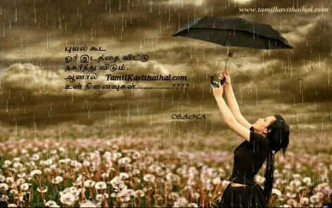 Beautiful Rain Umbrella Tamil Kadhal Kavithai Sad Quotes