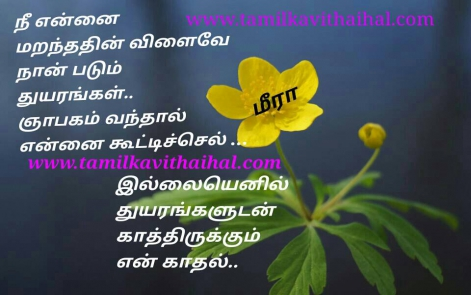 beautiful one side love failure quotes in tamil thuyaram yapakam kadhal memory meera poem dp status