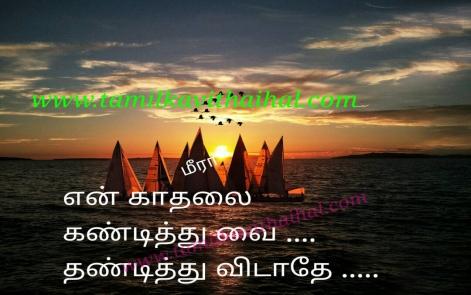 beautiful request for kadhalan kadhali love meera poem kandithu vai thandithu vidathey whatsapp status dp poem
