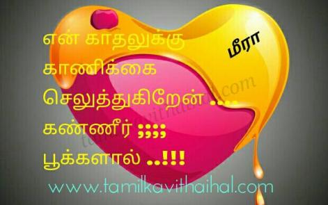 best meera poem en kadhal kaanikkai seluthukiren kanner pookal whatsapp tamil dp staus