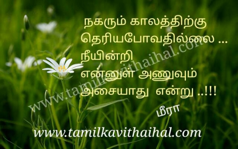 cute kanner kavithai meera love time poem in tamil language kalam anuvum asaiyadhu neeindri kadhal dp status