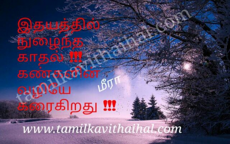 idhayam nulaintha kadhal kanner vali karaikiradhu beautiful love failure kavithai pirivu poem meera wallpaper