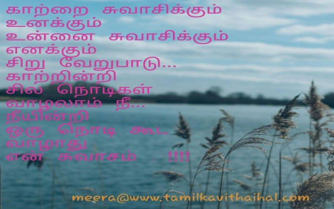 kaatru swasam unnai verupadu nee indri valathu en uyir sad love quotes girl feel meera tamil quotes