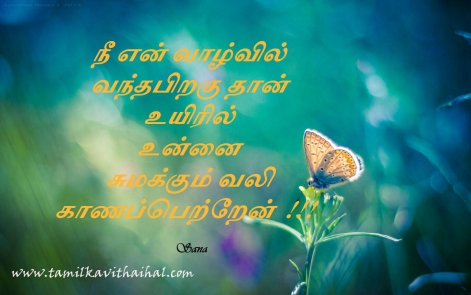 nee en valvil vandha piragu uyir vali purinthathu sana beautiful tamil quotes one line kavithaigal