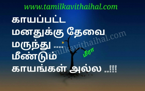 sad quotes and hurt lines in tamil kayam marunthu painful love failure meera poem whatsapp profile hd status
