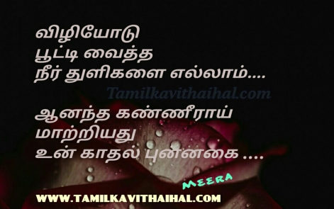 viliyodu vaitha neerthuli aanadham kanneer kadhal punnakai cute love feel girl meera poem facebook status images download