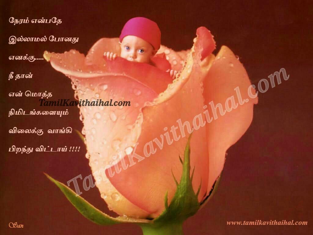 Cute Baby Rose Time Tamil Kavithai Thaimai