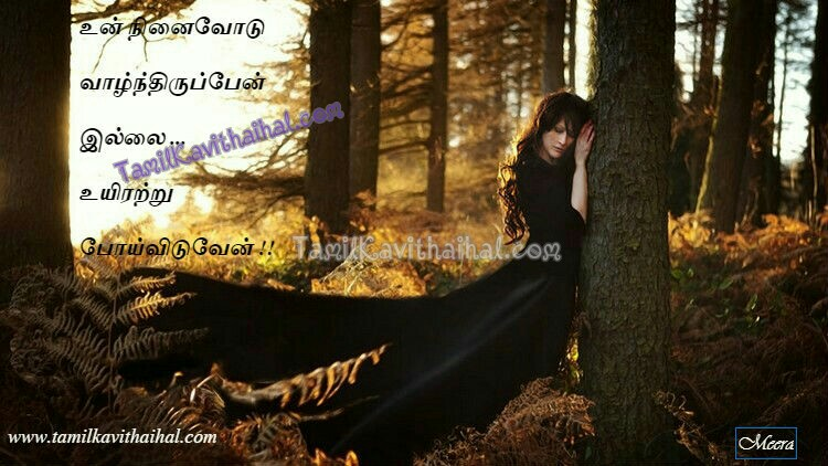Woman Black Tree Uyir Valkai Love Tamil Kavithai Quotes