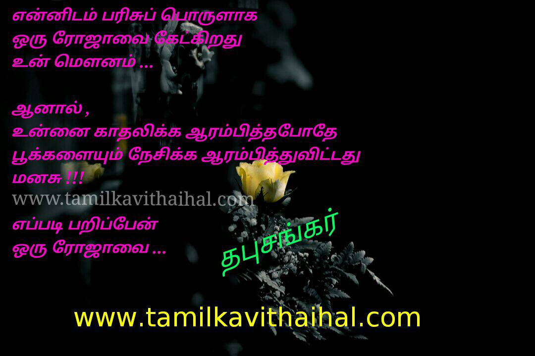Amazing kadhal kavithai thabu sankar in love affection poem roja poo flower whatsapp image download