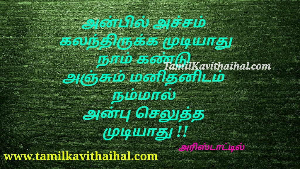 Aristotle quotes about love life anbu acham