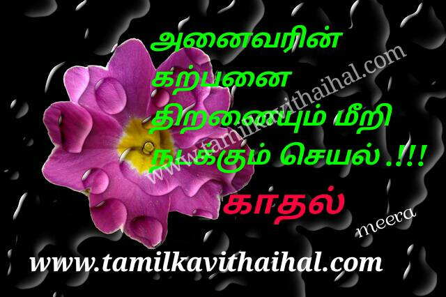 Beautiful Love Quotes In Tamil Dream About Kadhal Boys Girls Meera