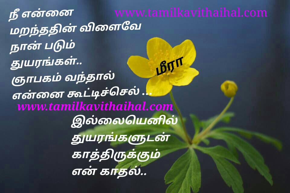 Beautiful One Side Love Failure Quotes In Tamil Thuyaram Yapakam