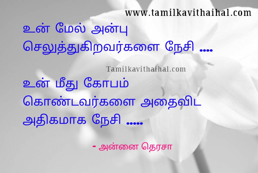 Best Annai Therasa Kavithai Quotes In Tamil Language Kopam Nesam