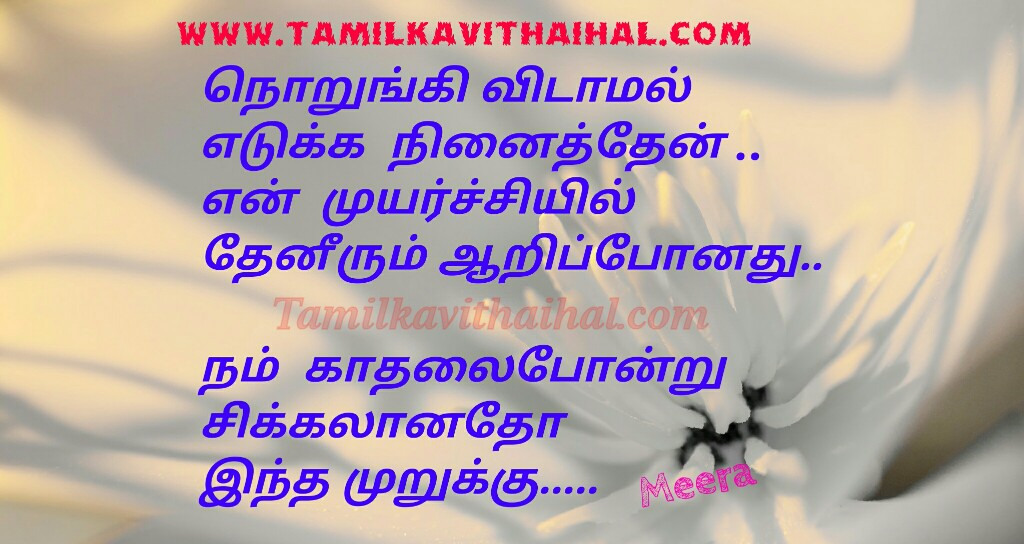 Best quotes for kadhal kavithai sikkal vali meera poem whatsapp facebook images download