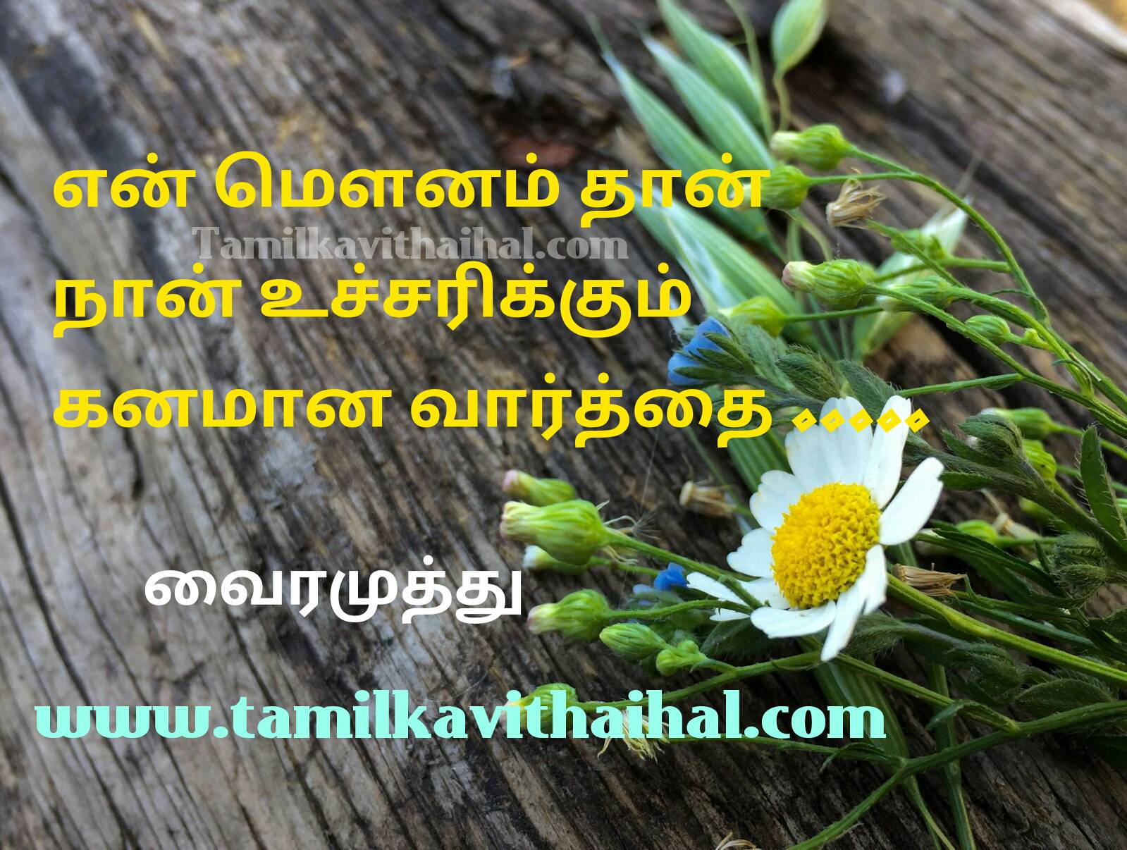 Best tamil vairamuthu kavithaigal beautiful love life poem mounam kanam vaarthai vali idhayam hd image wallpaper