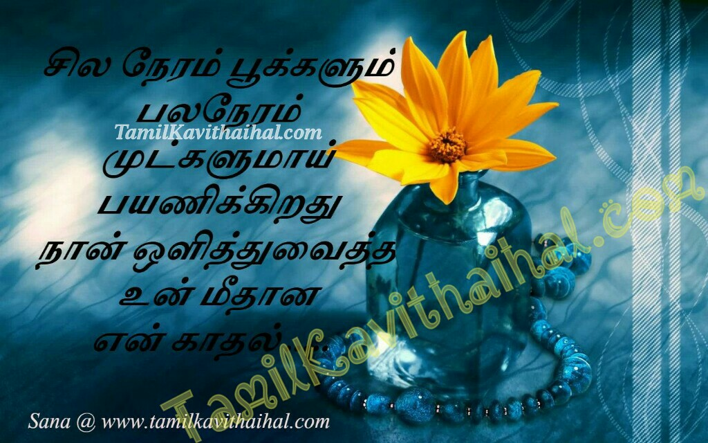 Mul malar kadhal poo nan olithu vaithirukum kadhal tamil quotes about love pain heart touching lines by sana