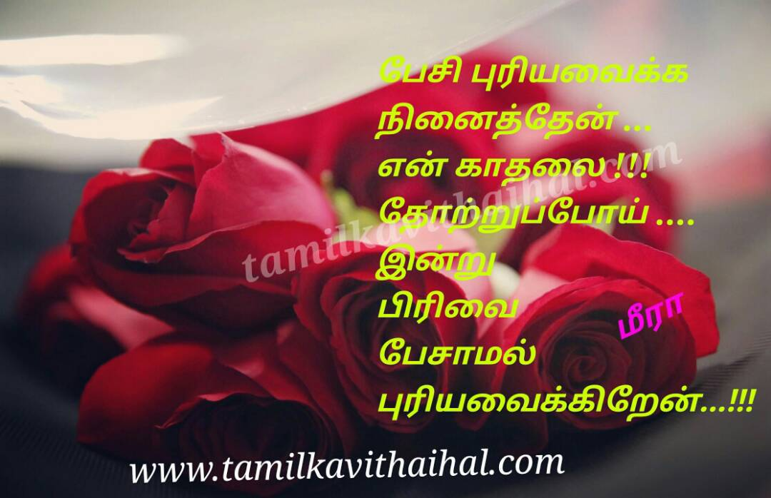 Painful lines husbend and wife mis understand pirivu pesi puriya vaikka indru meera love and marriage failure quotes