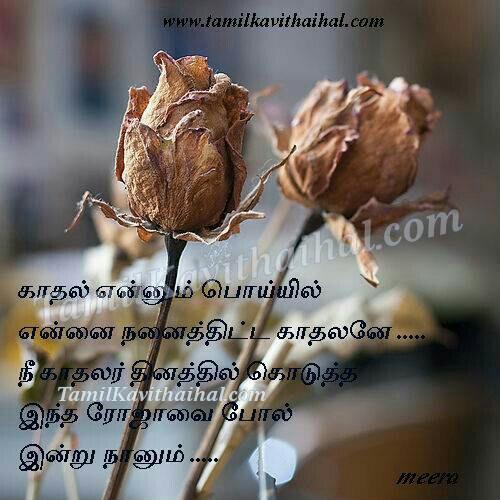 Soham love failure feel rose cute quotes tamil kavithai