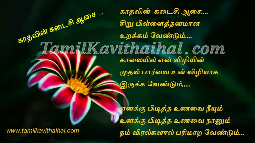 Tamil kadhal kavithai meera husband and wife kavithaigal sentiment last wish aasai viruppam love proposal 5