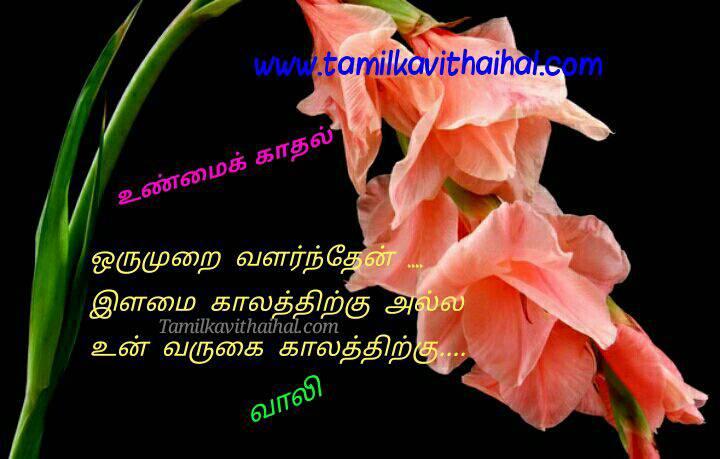 True love kavithai vaali in tamil hd font image oru murai valrthen ilamai kalam varukai hd image download