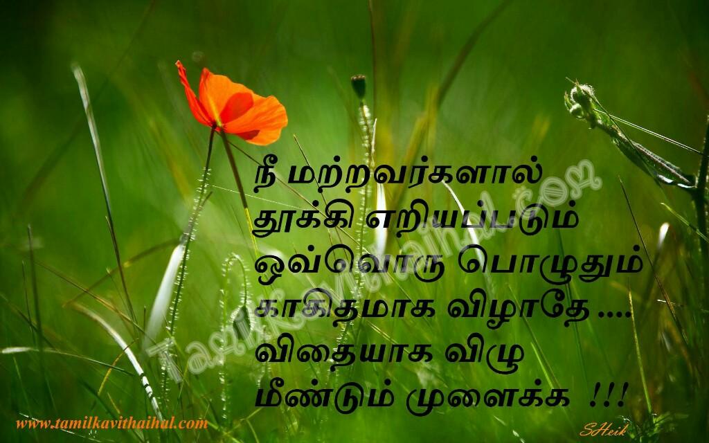 Vidhayga vilu thooki eriayapadum podu motivational quotes valkai thathuvam inspirational